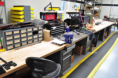 The Custom Shop contains all of the necessary tools to manage virtually any maintenance job a customer may be able to dream up. The armorers within it are extremely versatile and are accustomed to finding solutions to most equipment issues.