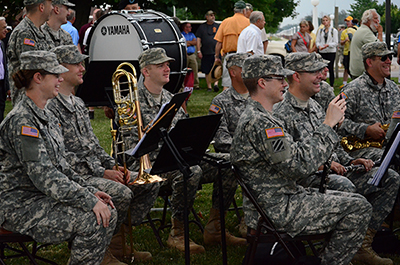 The 122nd Army Band played the National Anthem, Armed Forces Salute and other fanfares during the ceremony.
