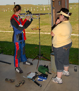 In 2010, Marisca attended the NRA's Junior Camp at the National Matches to better hone her rifling skills.