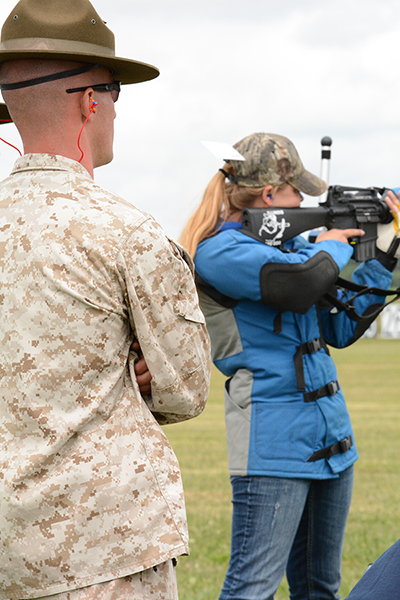 Junior participants fired in a true EIC match, under the observation of instructors. Competitors fired from 200, 300, and 600 yards.